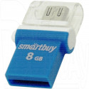 USB Flash 8Gb SmartBuy OTG Poko синяя