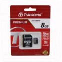 microSD 8Gb Transcend Class 10 Premium с адаптером