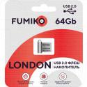 USB Flash 64Gb Fumiko London металл серебро
