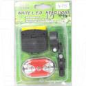 Велосипедный фонарь на батарейке Y-773 (передний + задний)