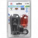 Велосипедный фонарь на батарейке Y-990 (передний + задний)