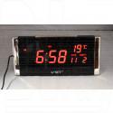 VST 731W-1 часы настольные с красными цифрами