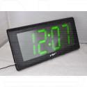 VST 795-2 часы настенные с зелеными цифрами