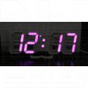 VST-883 часы настольные с фиолетово-розовыми цифрами