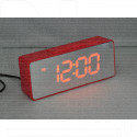 VST 886Y-1 часы настольные с красными цифрами