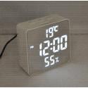 VST 887Y-6 часы настольные с белыми цифрами