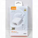 Зарядное устройство LDNIO A2316 USB QC 3.0 + PD + кабель PD-L (Type C - Lightning)