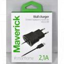 Зарядное устройство USB 2.1A Maverick microUSB