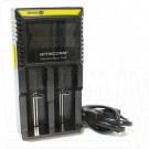 Зарядное устройство для 2-х аккумуляторов Nitecore D2 с дисплеем (18650, 26650 и др)