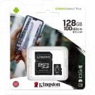 microSD 128Gb Kingston Class 10 A1 (100 Mb/s) с адаптером