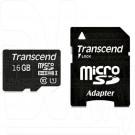 microSDHC 16Gb Transcend Class 10 с адаптером
