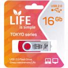 USB Flash 16Gb Life Tokyo красная