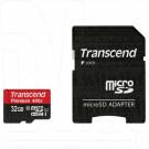 microSDHC 32Gb Transcend Class 10 UHS-I с адаптер