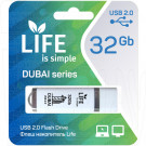 USB Flash 32Gb Life Dubai белая