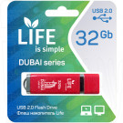 USB Flash 32Gb Life Dubai красная