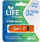 USB Flash 32Gb Life Dubai оранжевая