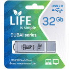 USB Flash 32Gb Life Dubai серебряная
