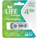 USB Flash 4Gb Life Tokyo серебряная