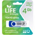 USB Flash 4Gb Life Tokyo синяя