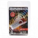 USB Flash 4Gb Exployd 530 красная