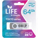 USB Flash 64Gb Life Tokyo серебряная