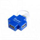 USB HUB Smartbuy SB19-B голубой