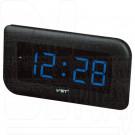 VST 739-5 часы настенные с ярко-синими цифрами