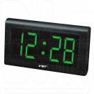 VST 795-4 часы настенные с ярко-зелеными цифрами