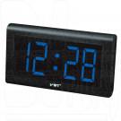 VST 795-5 часы настенные с ярко-синими цифрами