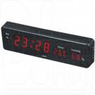 VST 805-S-1 часы настенные с термометром с красными цифрами