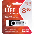 USB Flash 8Gb Life Tokyo черная