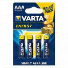 VARTA Energy LR03 BP4 AAA упаковка 4шт