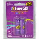 Аккумуляторы 3Q Q-EnerGO! HR6 2500mAh NiMH BL2 AA в упаковке 2 шт