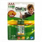 Аккумуляторы Dialog HR03 1100mAh NiMH BL2 AAA в упаковке 2 шт