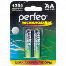 Аккумуляторы Perfeo HR6 1300mAh NiMH BL2 AA в упаковке 2 шт