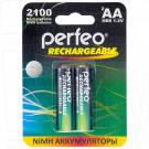 Аккумуляторы Perfeo HR6 2100mAh NiMH BL2 AA в упаковке 2 шт