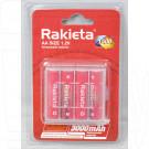 Аккумуляторы Rakieta HR6 3000mAh NiMH BL4 AA в упаковке 4 шт