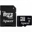 microSD 8Gb Apacer Class 10 с адаптером