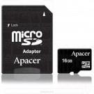microSDHC 16Gb Apacer Class 10 с адаптером