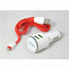 Автомобильная зарядка LDNIO DL-C29 3.4A, 2USB + кабель iPhone 5