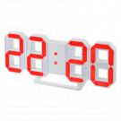 Часы-будильник Perfeo PF-663 Luminous (белый корпус, красная подсветка)