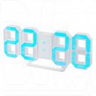 Часы-будильник Perfeo PF-663 Luminous (белый корпус, синяя подсветка)