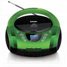 Магнитола BBK BX165BT черно-зеленая (Bluetooth)