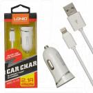 Автомобильная зарядка LDNIO DL-C12 с кабелем iPhone 5