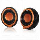 BBK CA-201S черно-оранжевая акустика 2.0