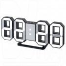 Часы-будильник Perfeo PF-663 Luminous (черный корпус, белая подсветка)