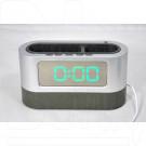 Часы-будильник с подставкой LL-038 (серый корпус, зеленые цифры)