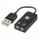 Defender Переходник со встроенной звуковой картой USB - 2x3,5Jack