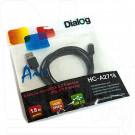 Кабель USB A - micro USB B (1,8 м) Dialog в пакете