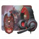 КОМПЛЕКТ Defender DragonBorn MHP-003 (мышь+гарнитура+ковер)